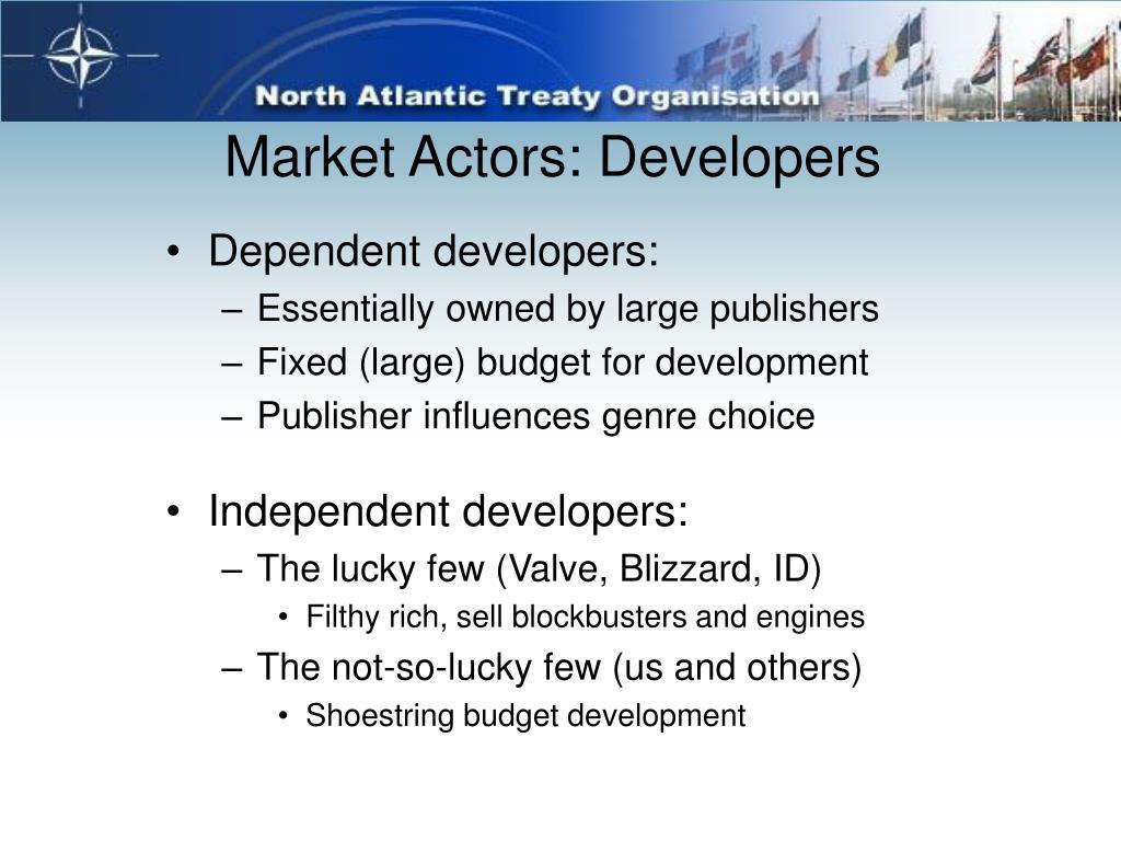 Market Actors: Developers