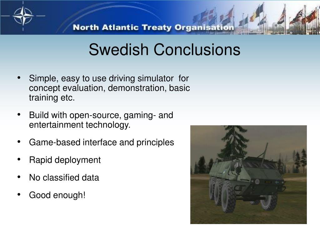 Swedish Conclusions