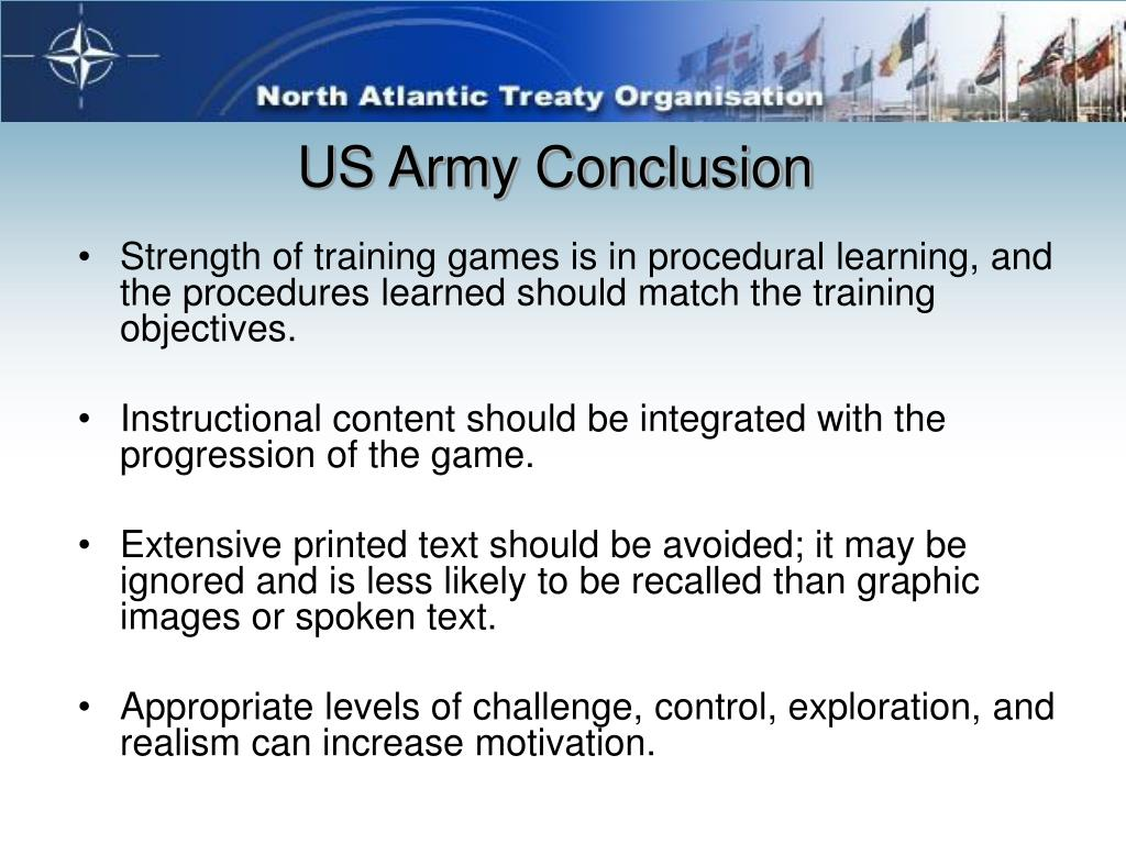 US Army Conclusion