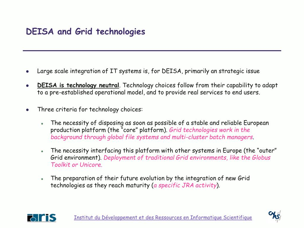 DEISA and Grid technologies