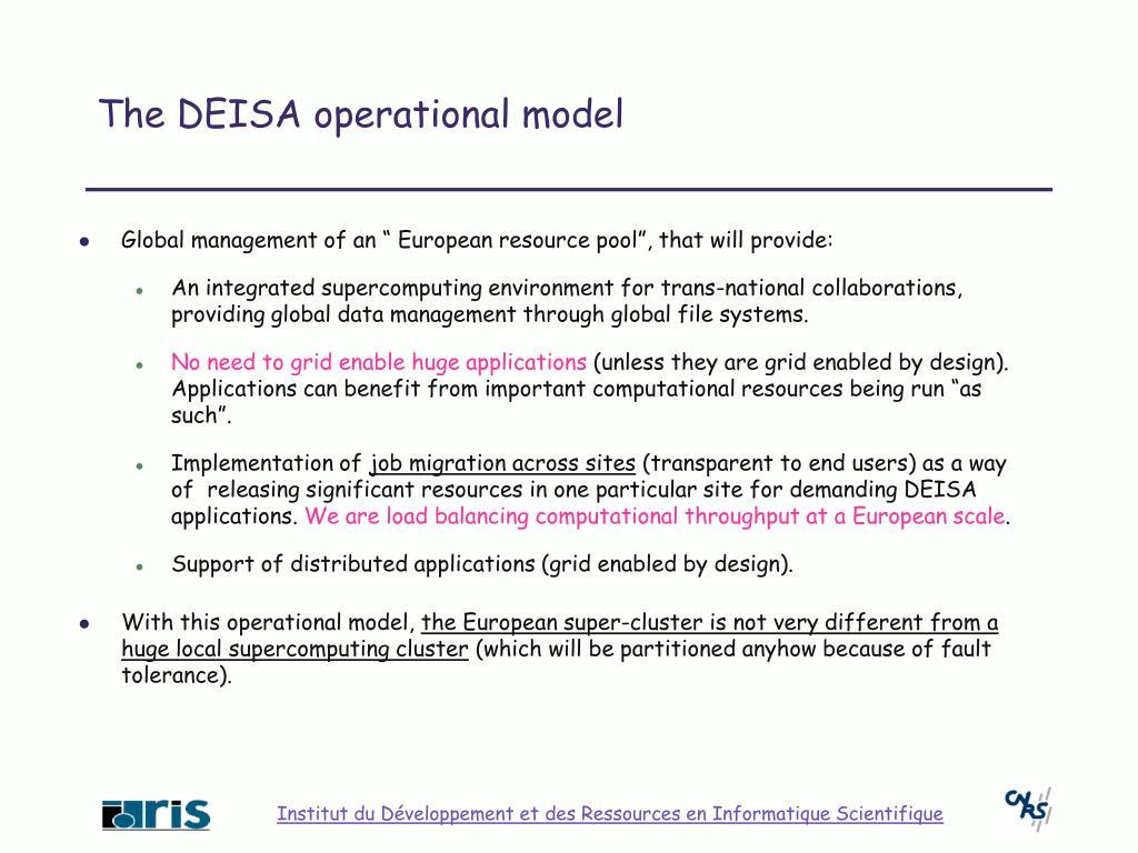The DEISA operational model