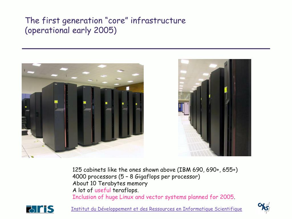 "The first generation ""core"" infrastructure"