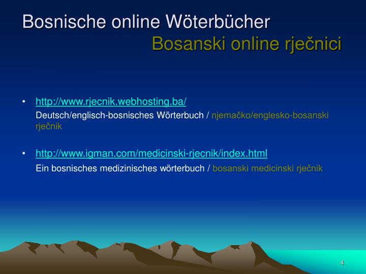Bosnische online W
