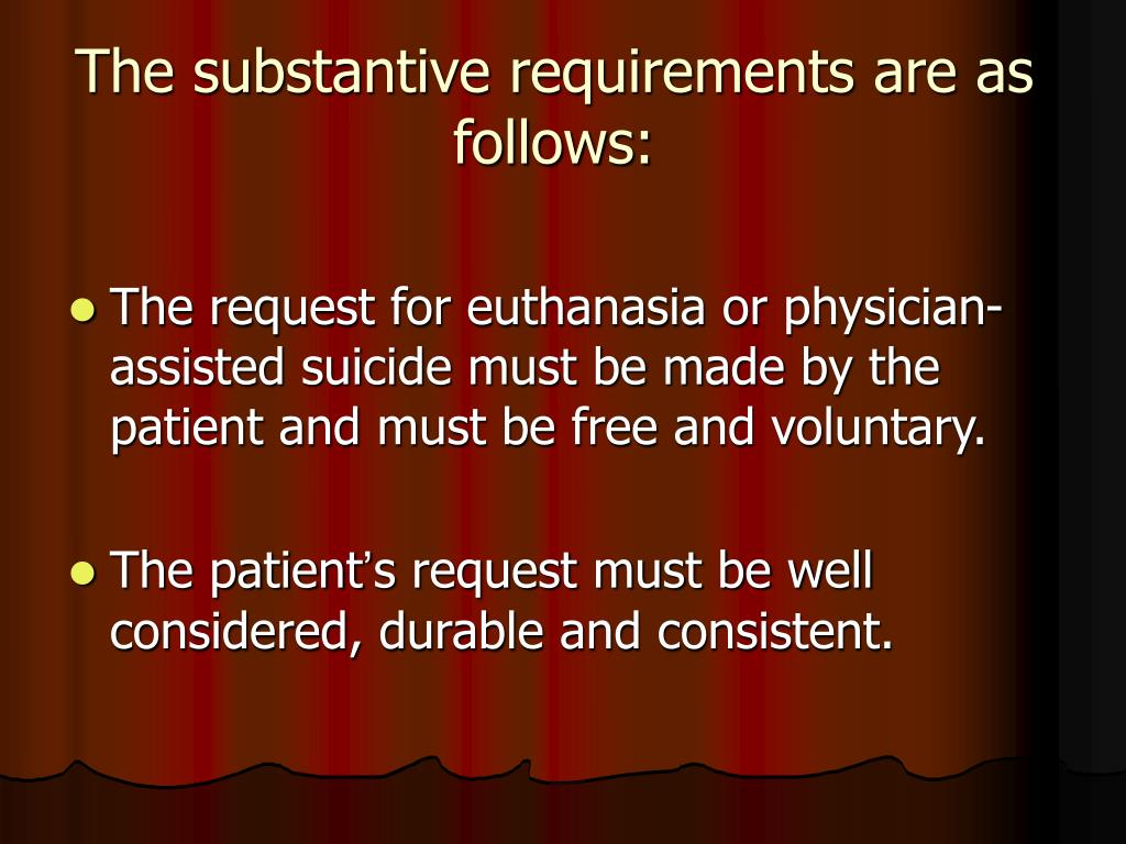 The substantive requirements are as follows: