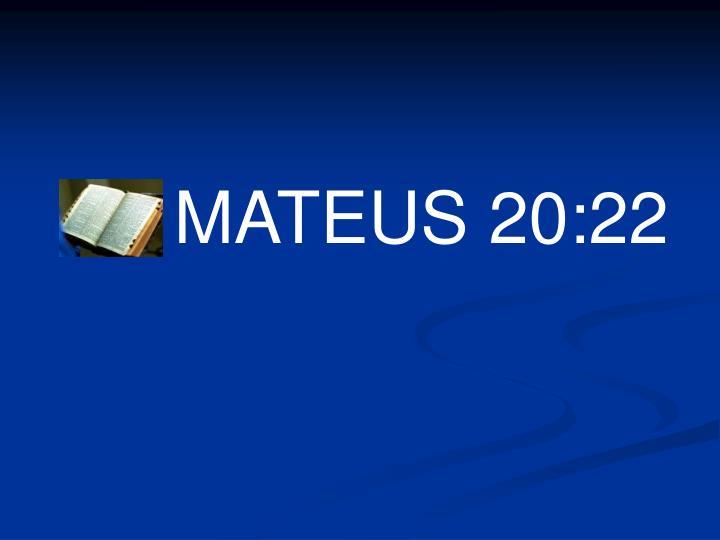 MATEUS 20:22