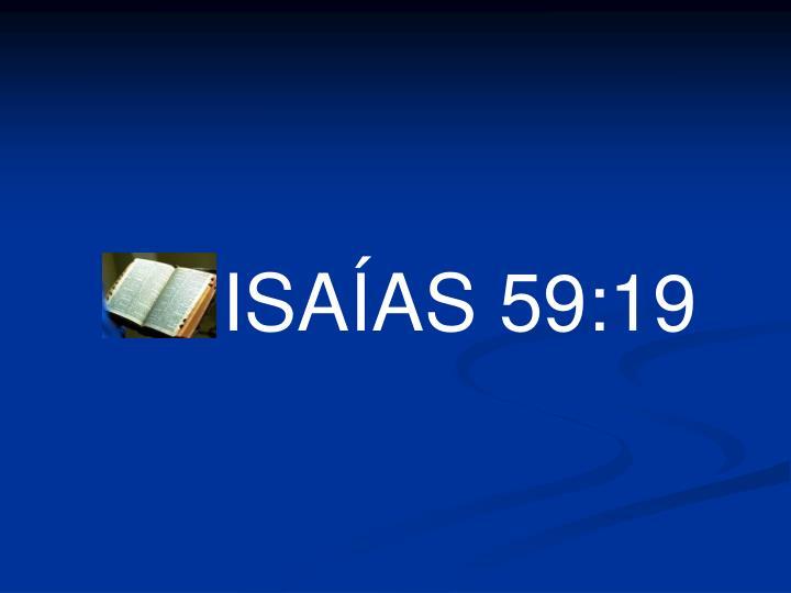 ISAÍAS 59:19