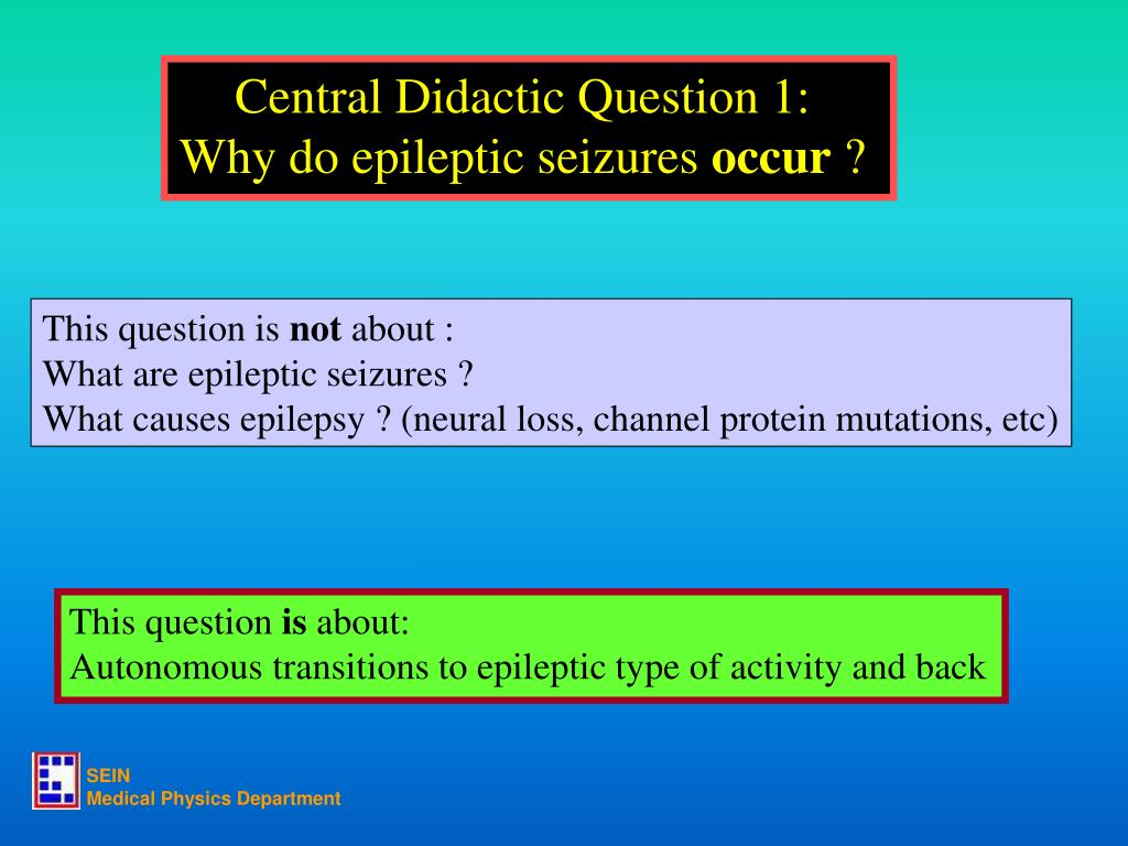 Central Didactic Question 1: