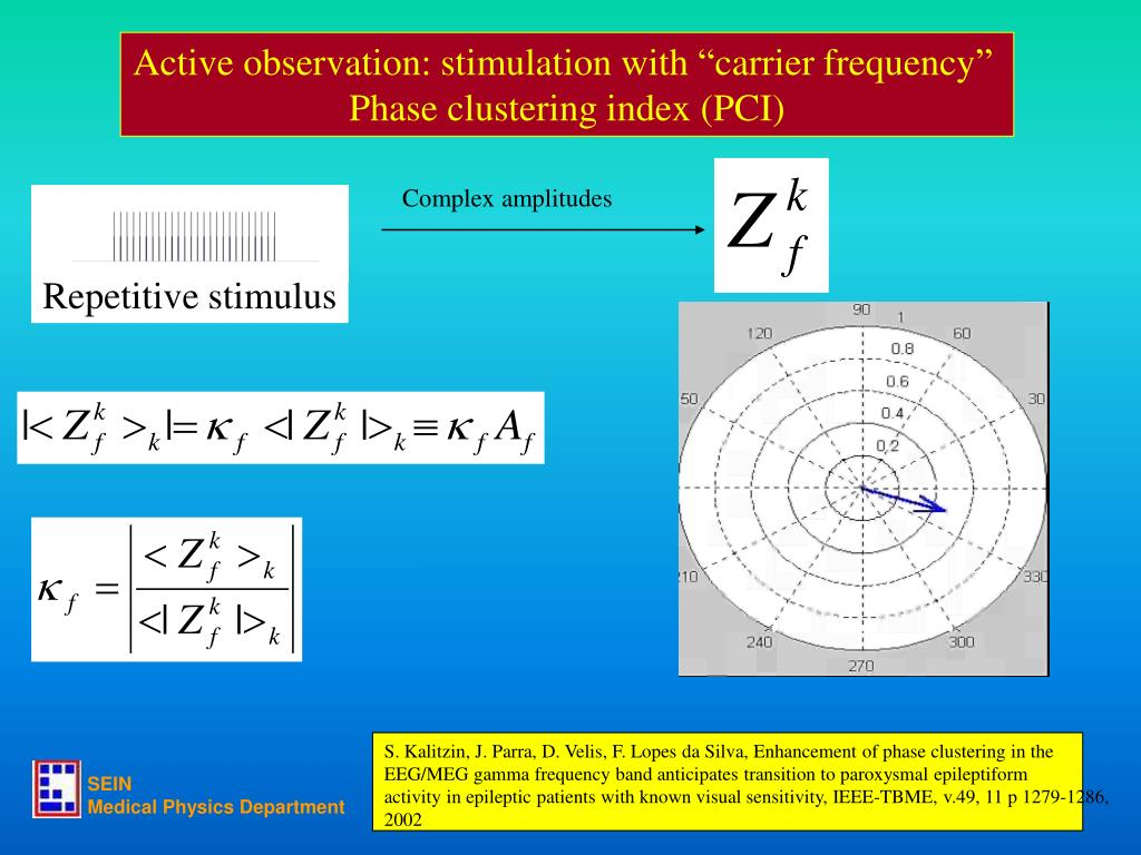 "Active observation: stimulation with ""carrier frequency"""