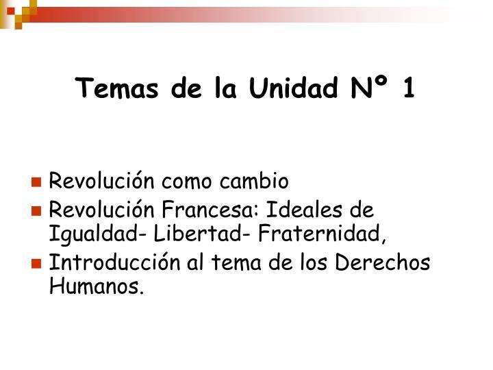 Temas de la Unidad Nº 1