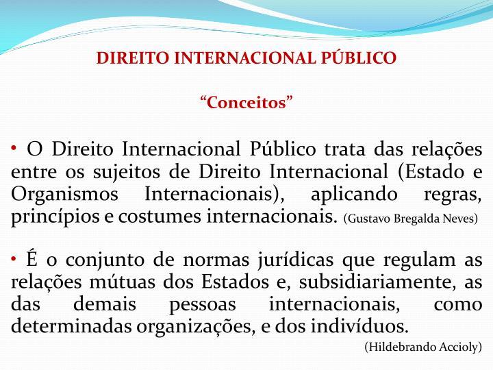DIREITO INTERNACIONAL PBLICO
