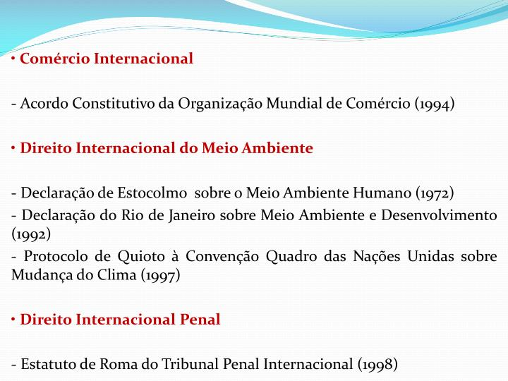 Comrcio Internacional