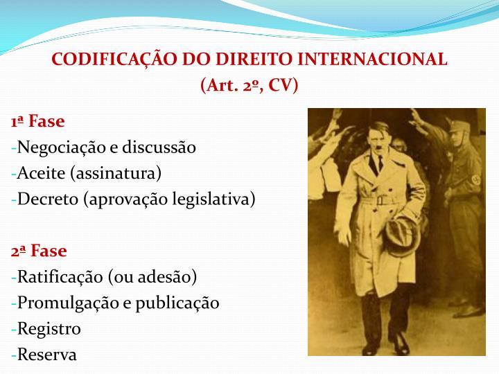 CODIFICAO DO DIREITO INTERNACIONAL