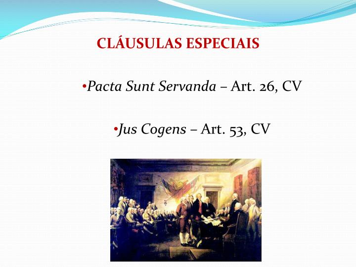 CLUSULAS ESPECIAIS
