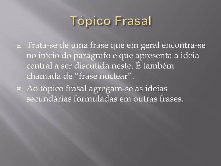 Tópico Frasal