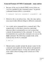 general format of unix commands man entries