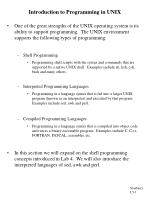 introduction to programming in unix