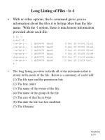 long listing of files ls l