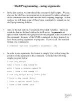 shell programming using arguments