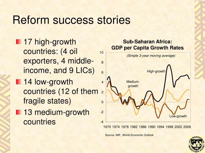 Reform success stories