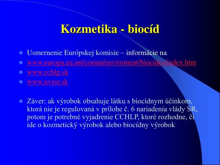 Kozmetika - biocíd