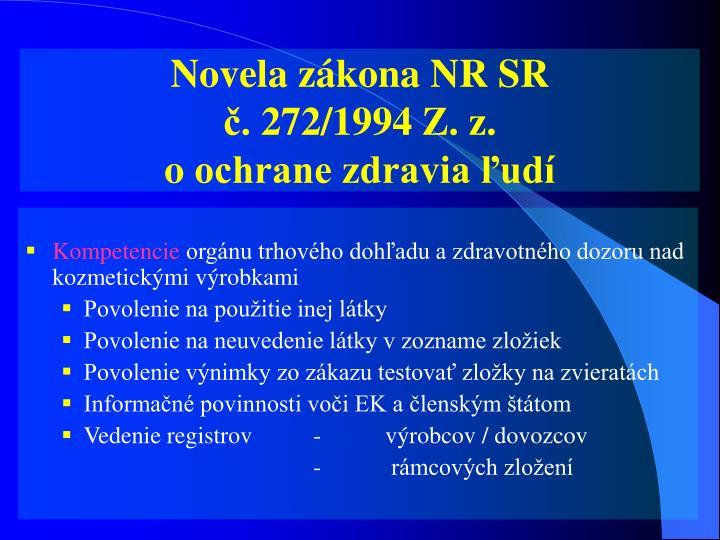 Novela zákona NR SR