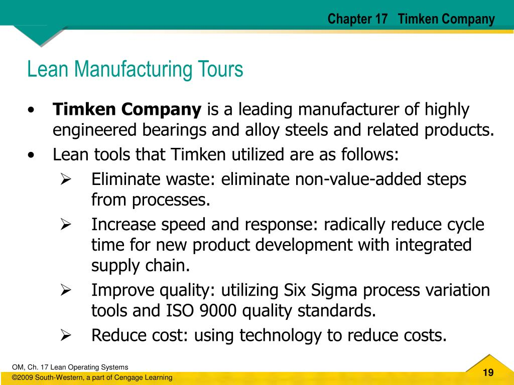 Chapter 17   Timken Company