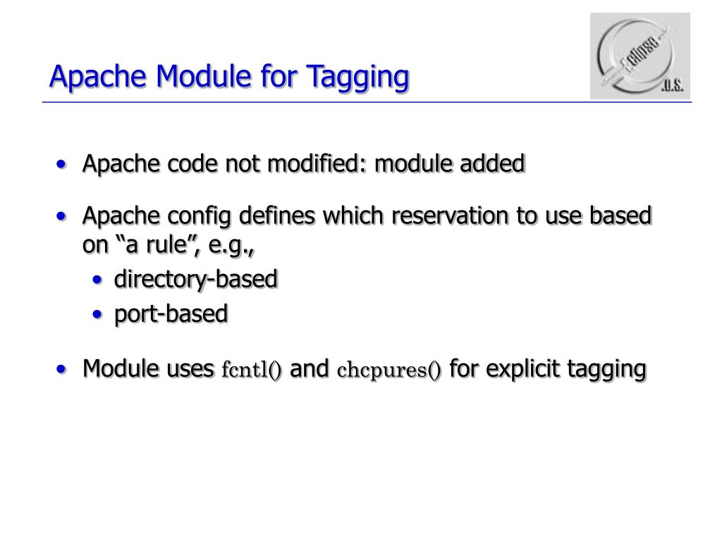 Apache Module for Tagging