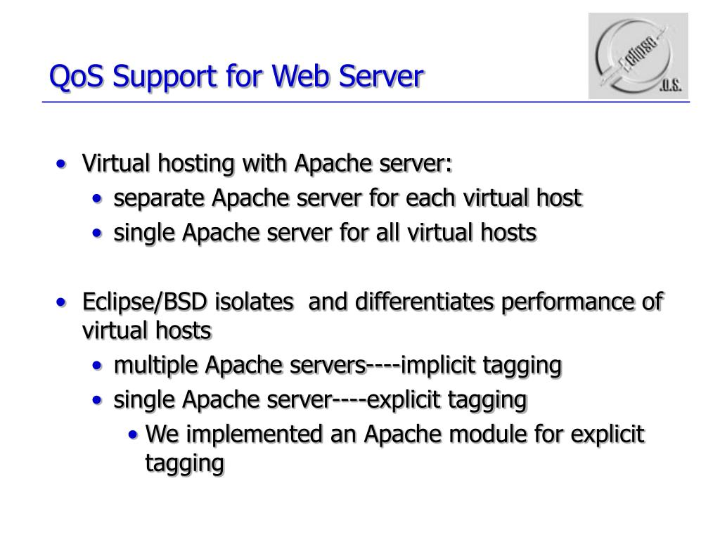QoS Support for Web Server