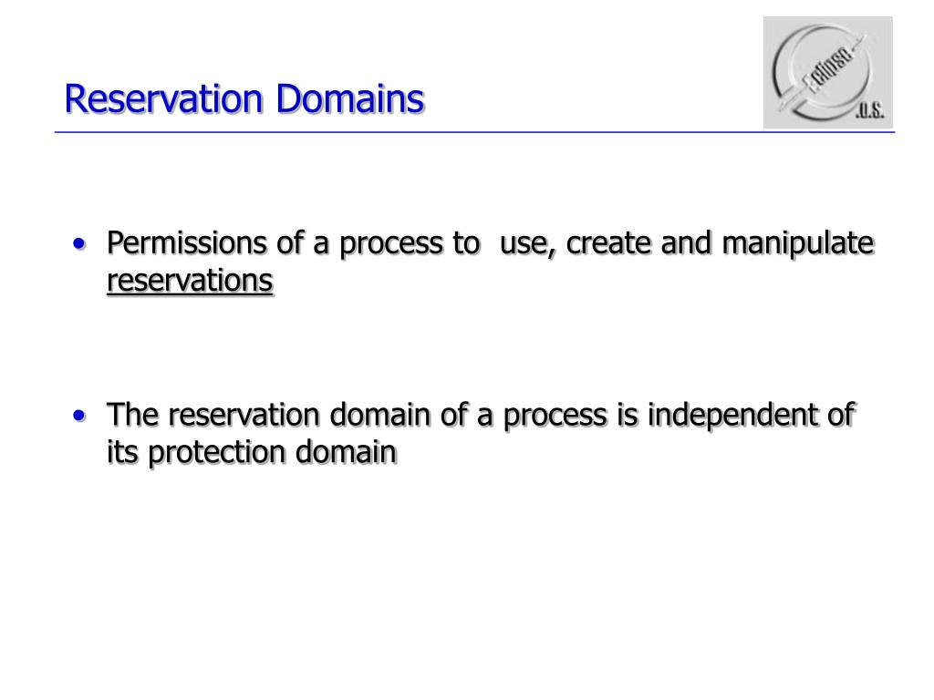 Reservation Domains