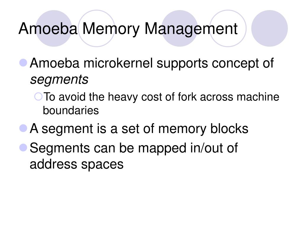 Amoeba Memory Management