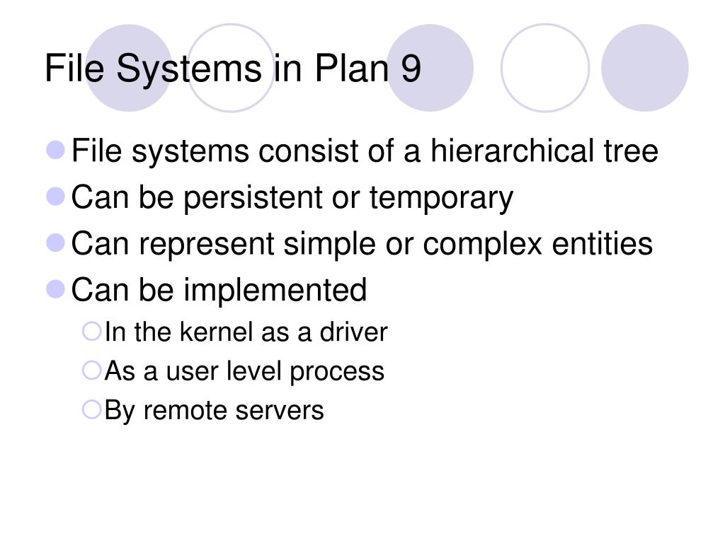 File Systems in Plan 9