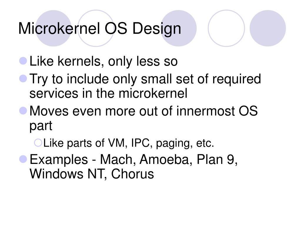 Microkernel OS Design