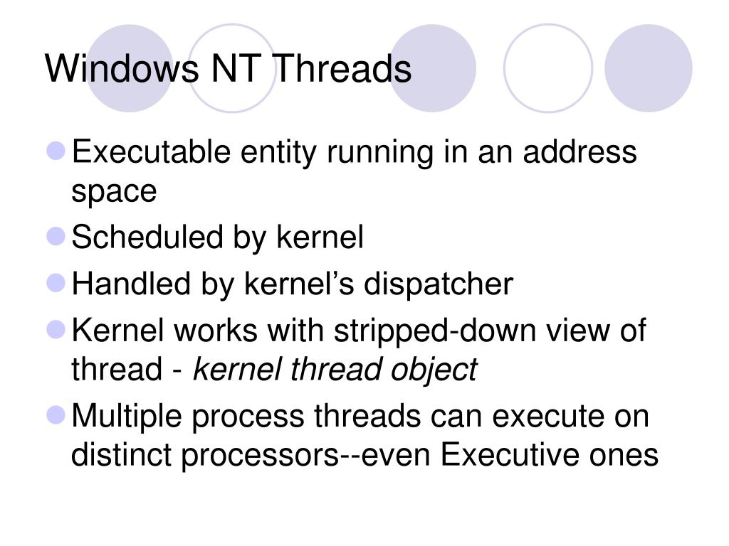 Windows NT Threads