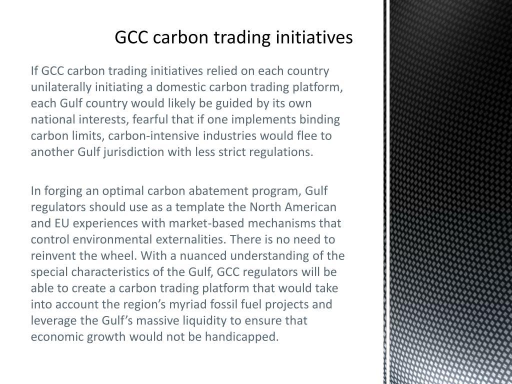 GCC carbon trading initiatives