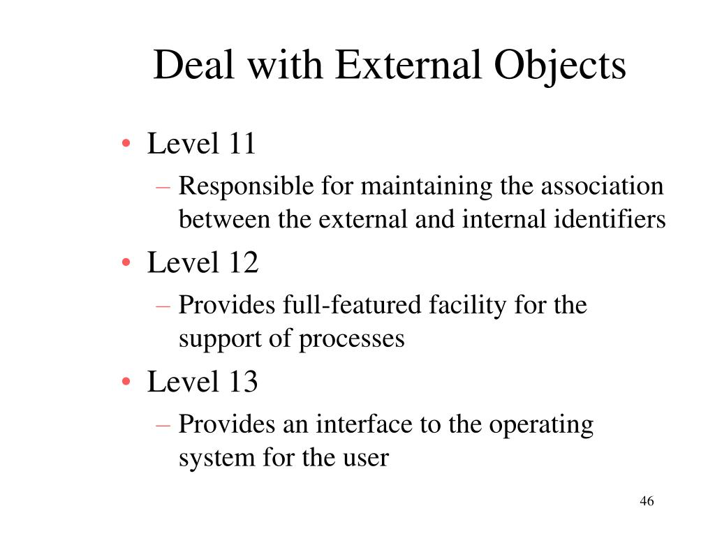 Deal with External Objects