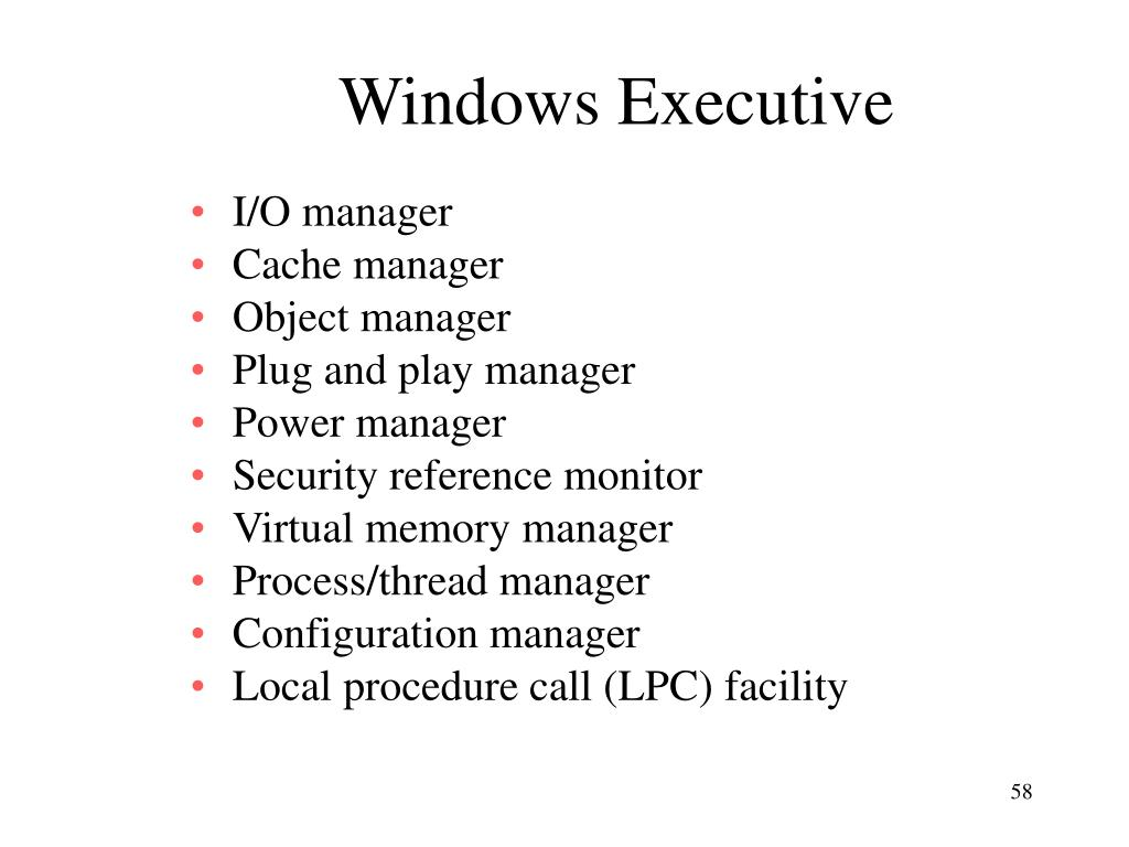 Windows Executive