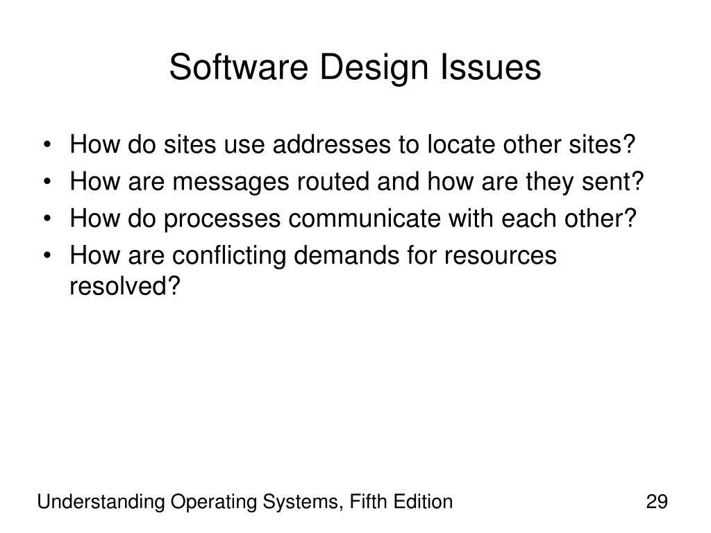 Software Design Issues