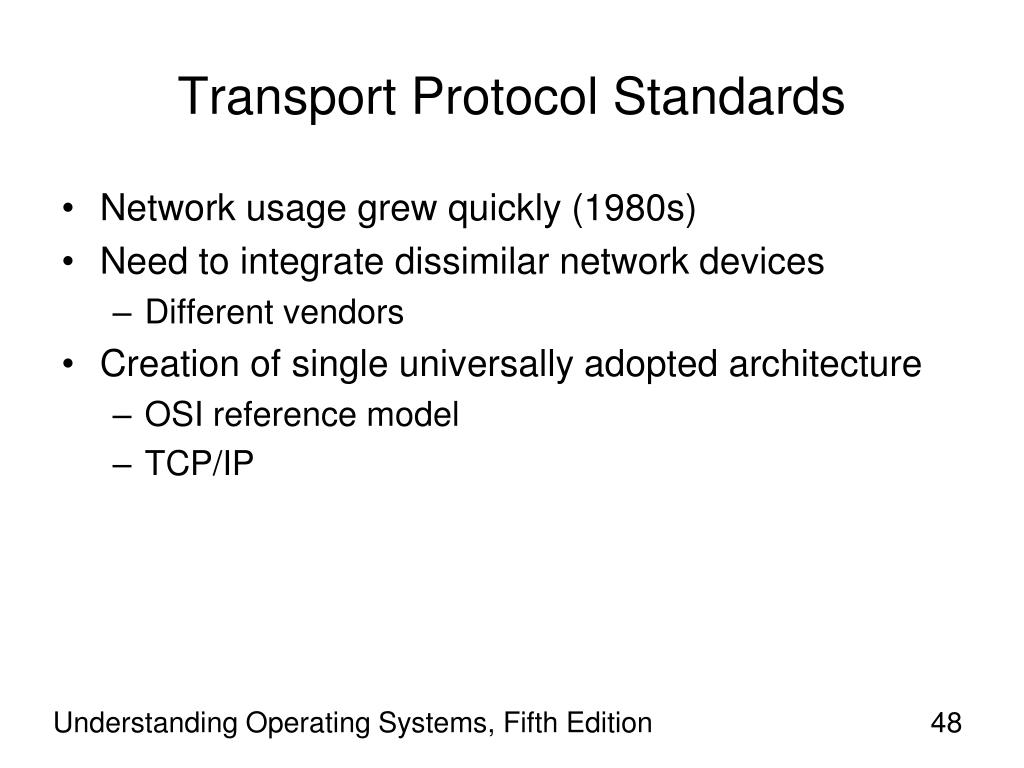 Transport Protocol Standards