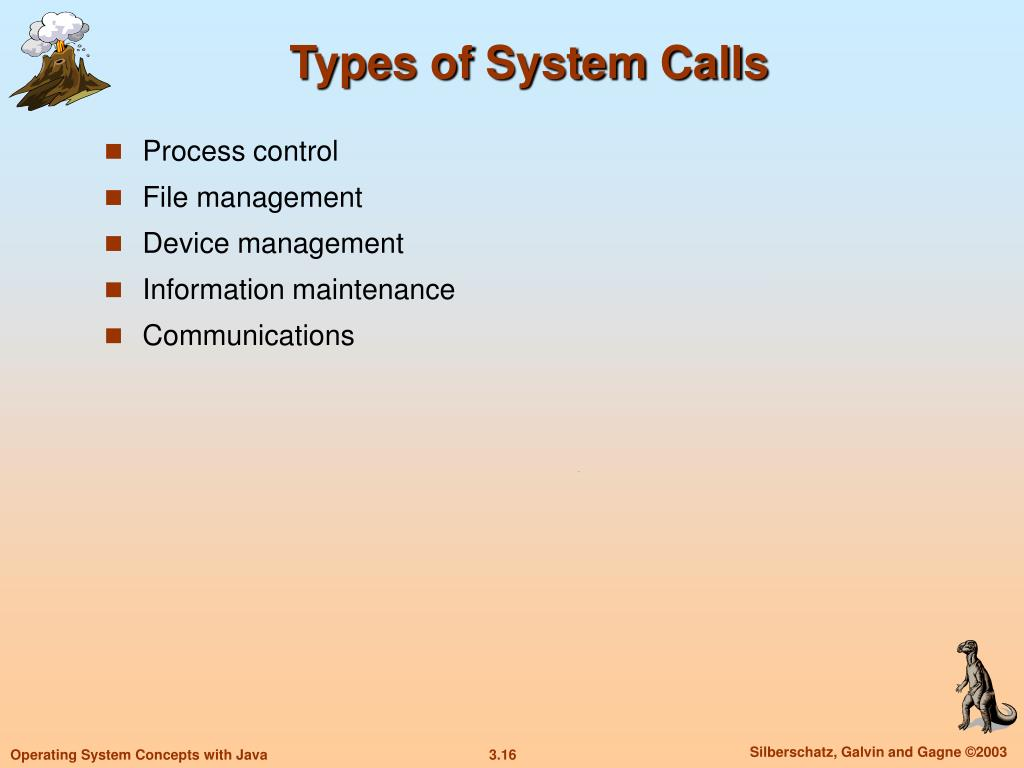 Types of System Calls
