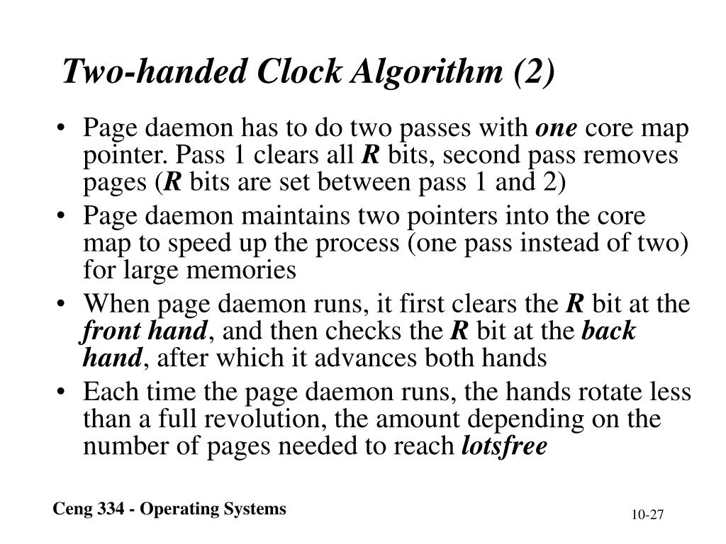 Two-handed Clock Algorithm (2)