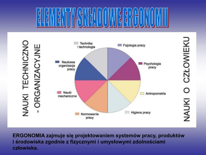 ELEMENTY SKADOWE ERGONOMII