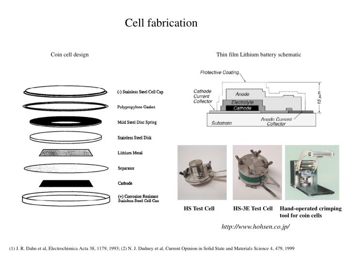 Cell fabrication