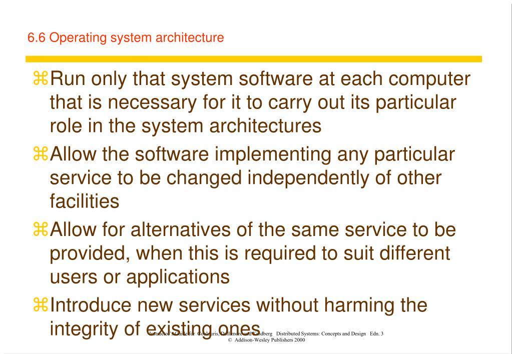 6.6 Operating system architecture