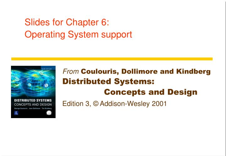 Slides for chapter 6 operating system support