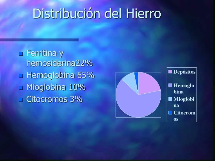 Distribución del Hierro