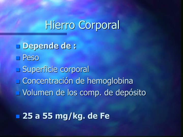 Hierro Corporal