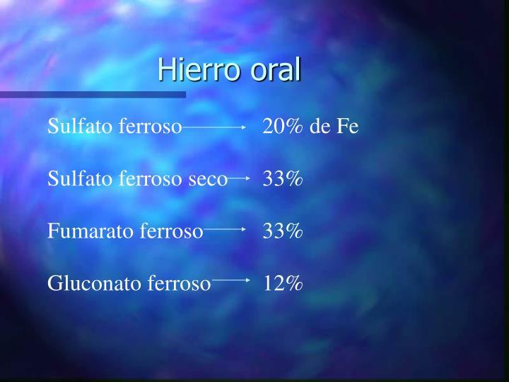 Hierro oral
