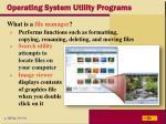 operating system utility programs19