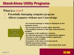 stand alone utility programs
