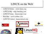 linux on the web